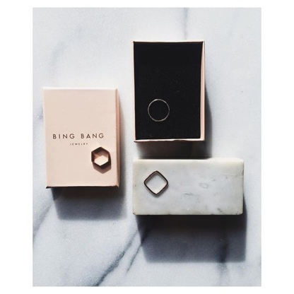 Mixed Metal - Geometric Ring Set